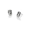 Kettlebell Earrings sterling silver studs