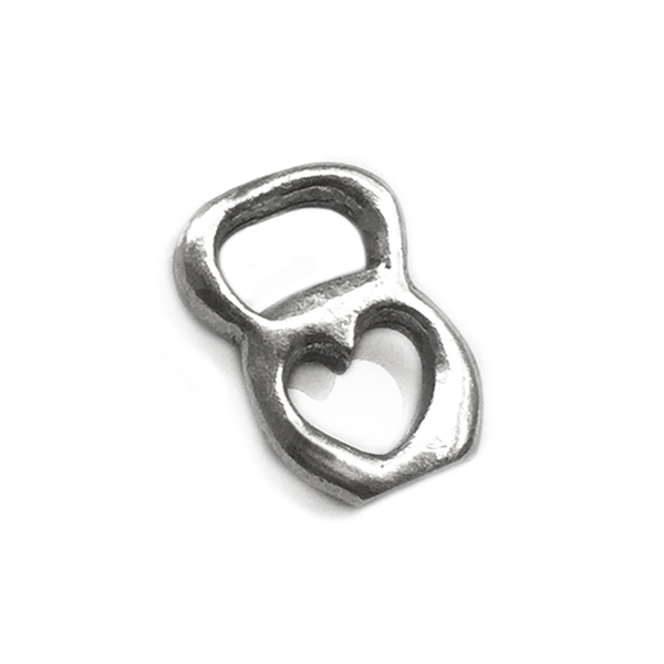 kettlebell charm with heart