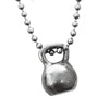 Large pewter men's kettlebell Necklace