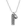 Mini pewter kettlebell with Inspire Charm
