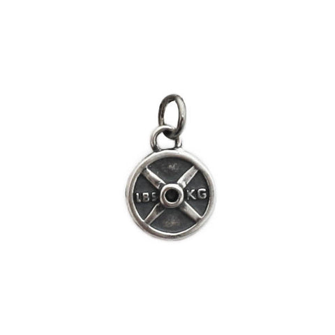 Weight Plate Charm mini sterling silver