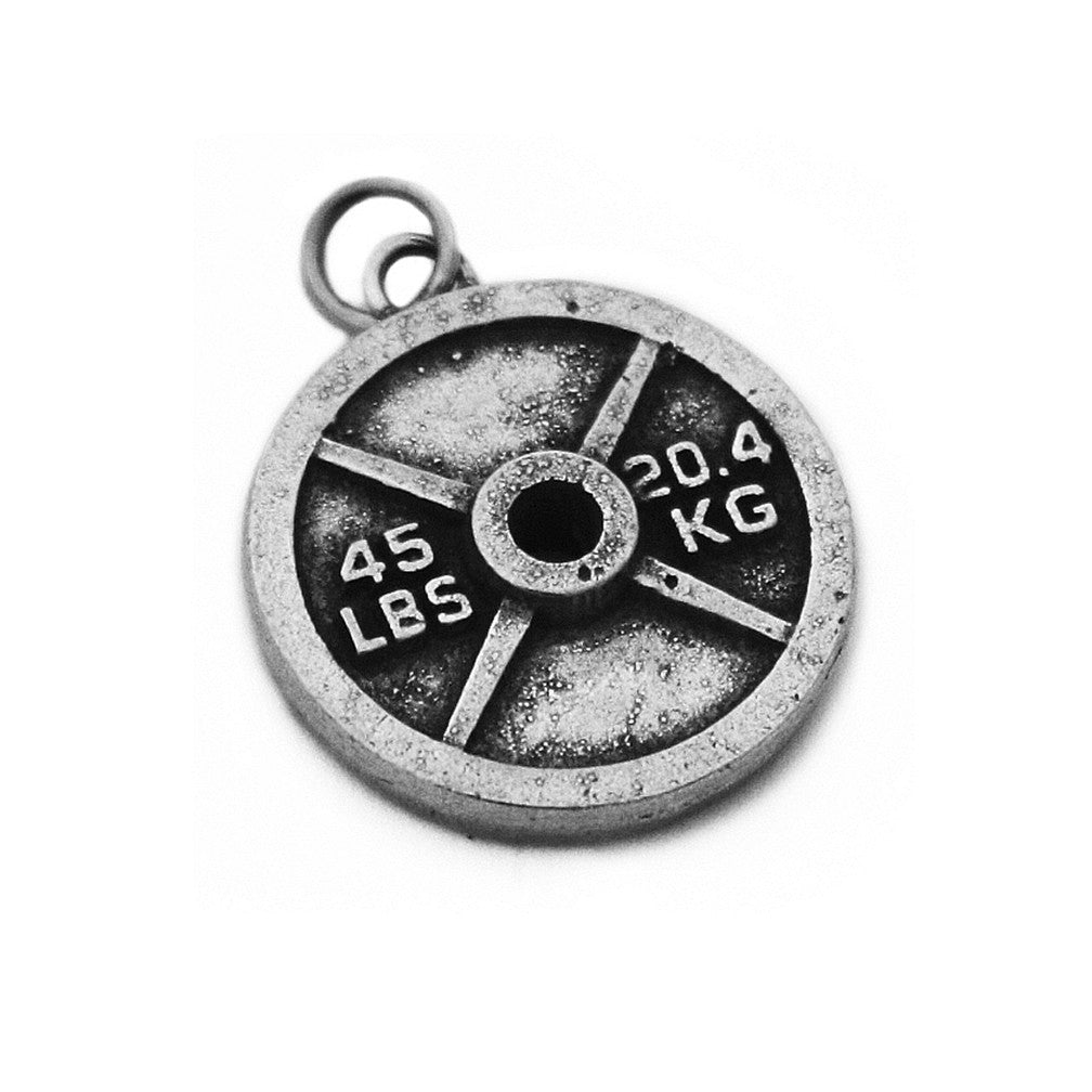 Weight Plate Charm Necklace