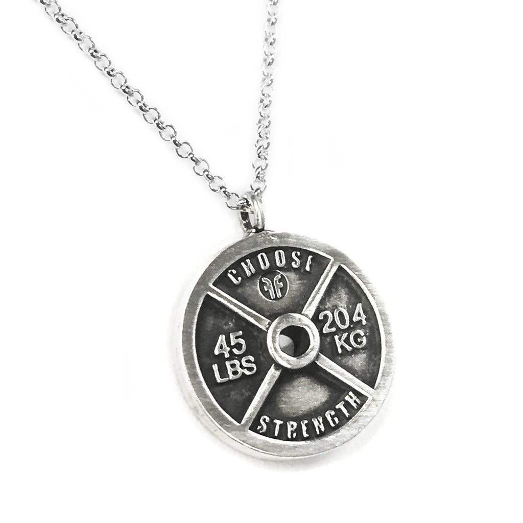 weight plate necklace choose strength