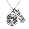 Weight Plate Necklace Strong Is Beautiful Charm
