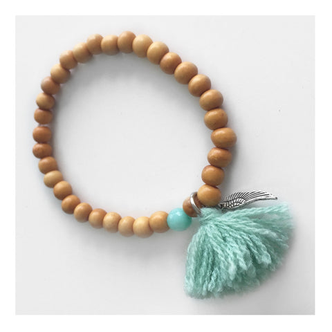 Yoga Bracelet with Bone and Tassle