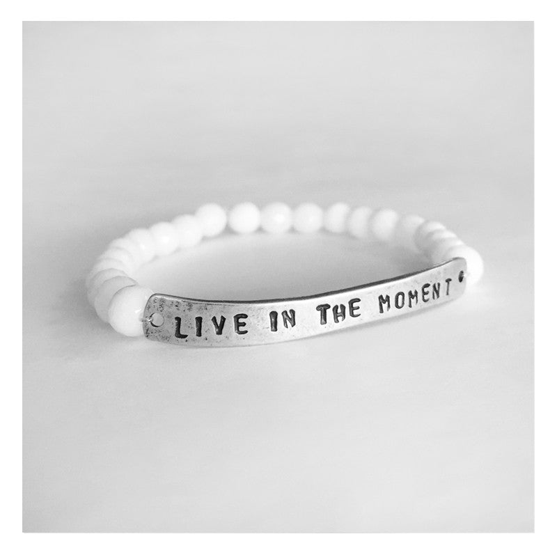 Yoga Bracelet Live in the Moment