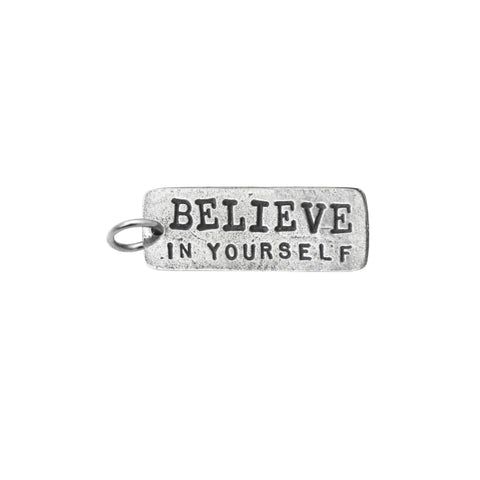 Believe In Yourself Rectangle Charm