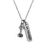 dumbbell charm I am Enough Necklace