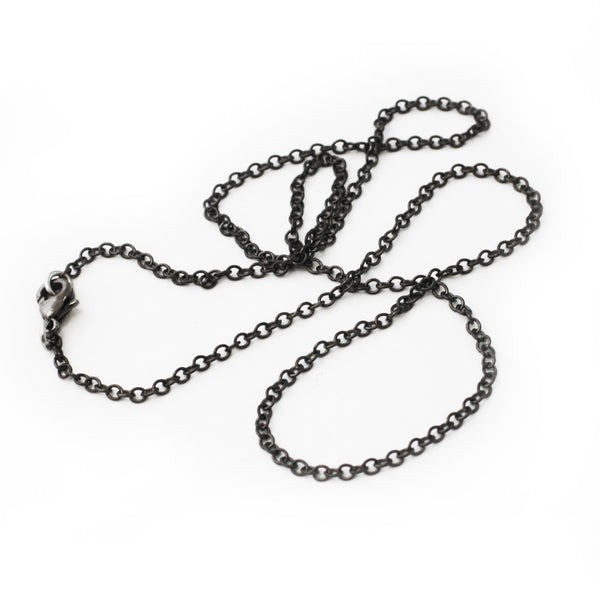 Black gunmetal chain