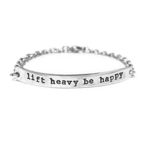 lift heavy be happy bracelet