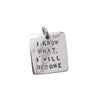 Sterling silver patience I know what I will become charm