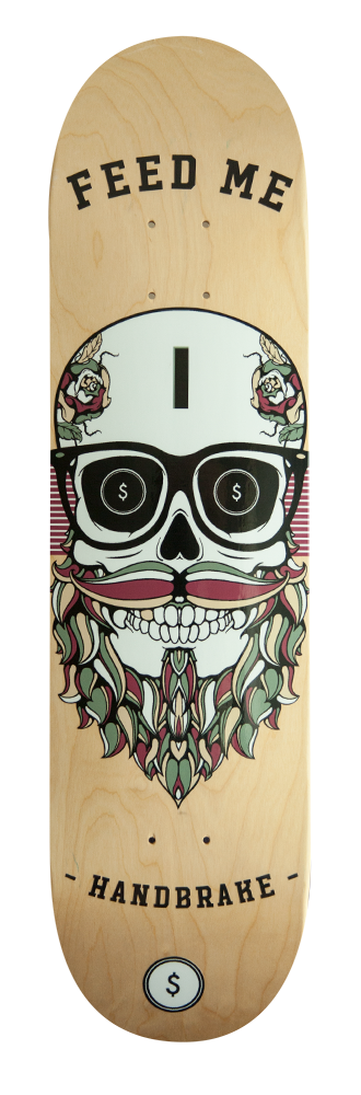 Feed Me Skull Skateboard Deck