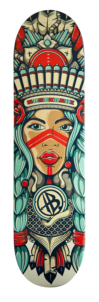 Pocahontas Indian Girl Skateboard Deck