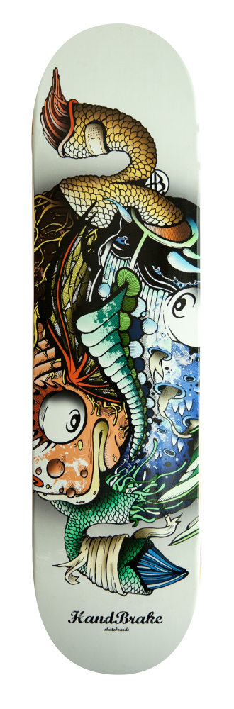 Yin Yang Fish Skateboard Deck