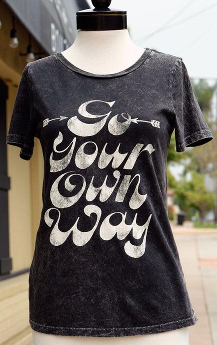 Go Your Own Way Grey T-Shirt