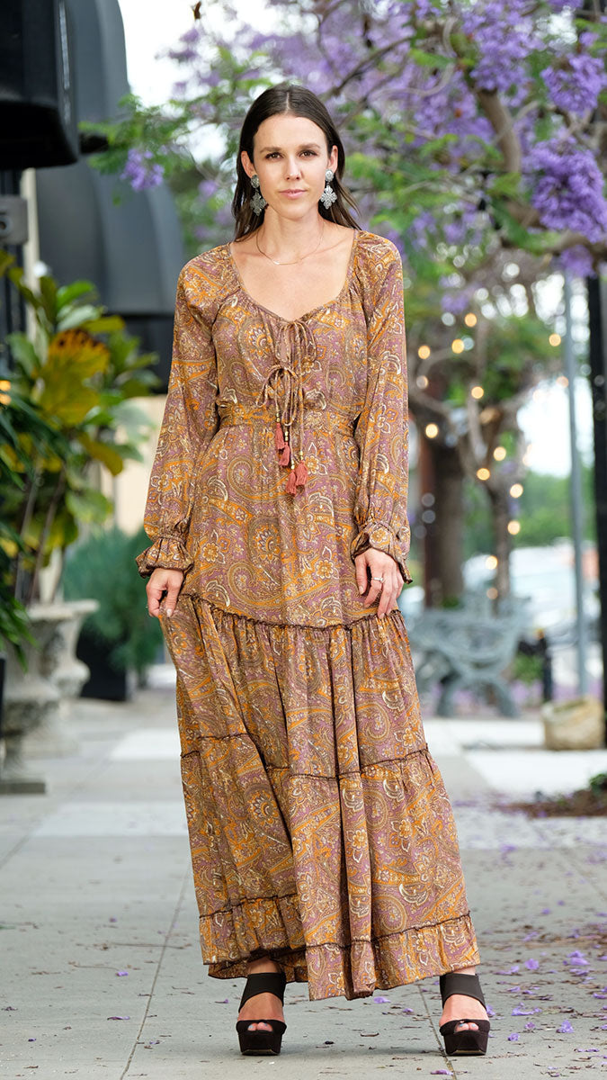 Witchy Woman Dress in Lavender with Amber