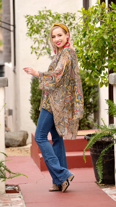 Demi Scarf Top in Paisley