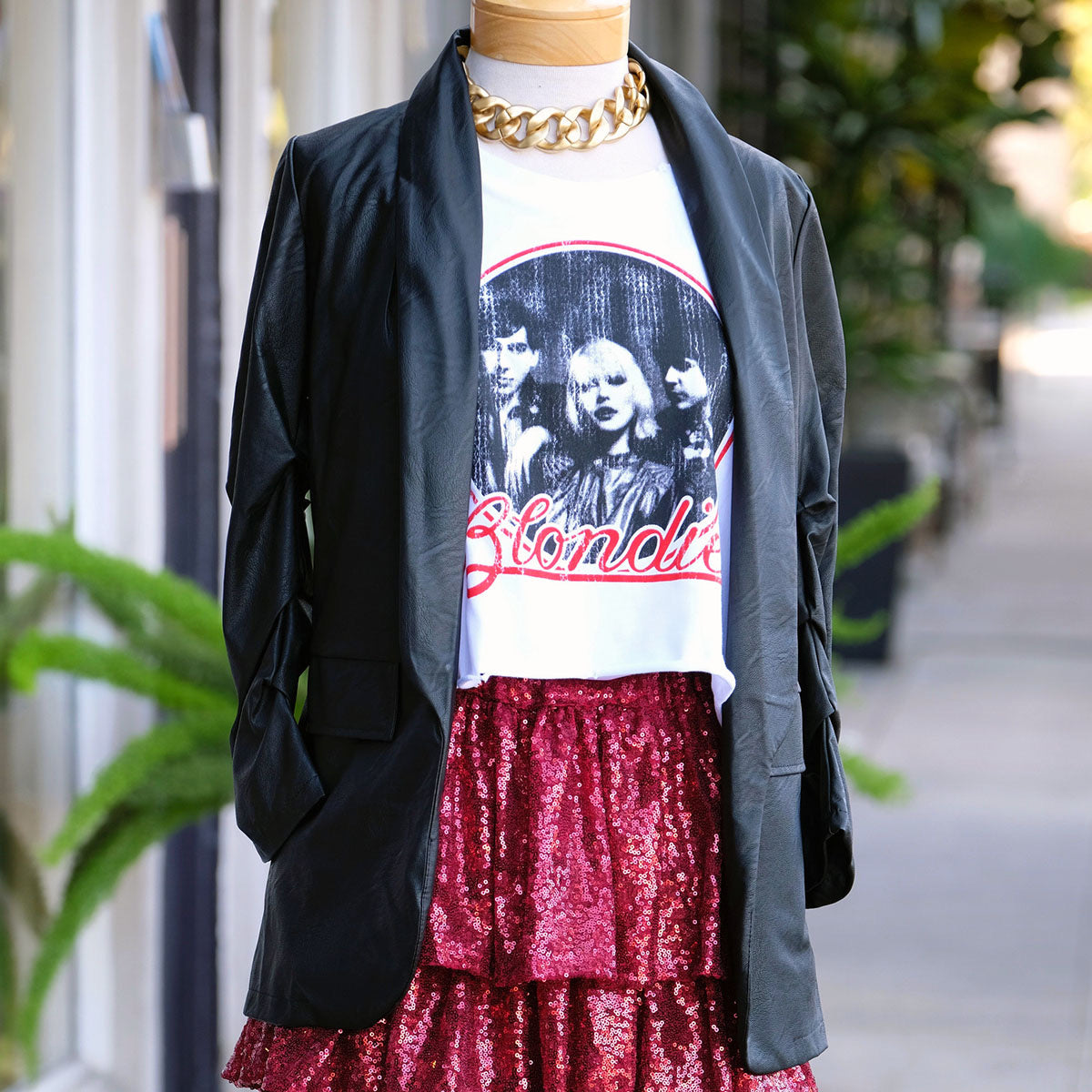 Blondie Distressed Crop Top