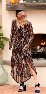 Ikat Print Joelle Dress