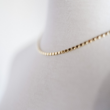 Reese | Flat Coin | Necklace