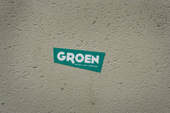Groen sticker