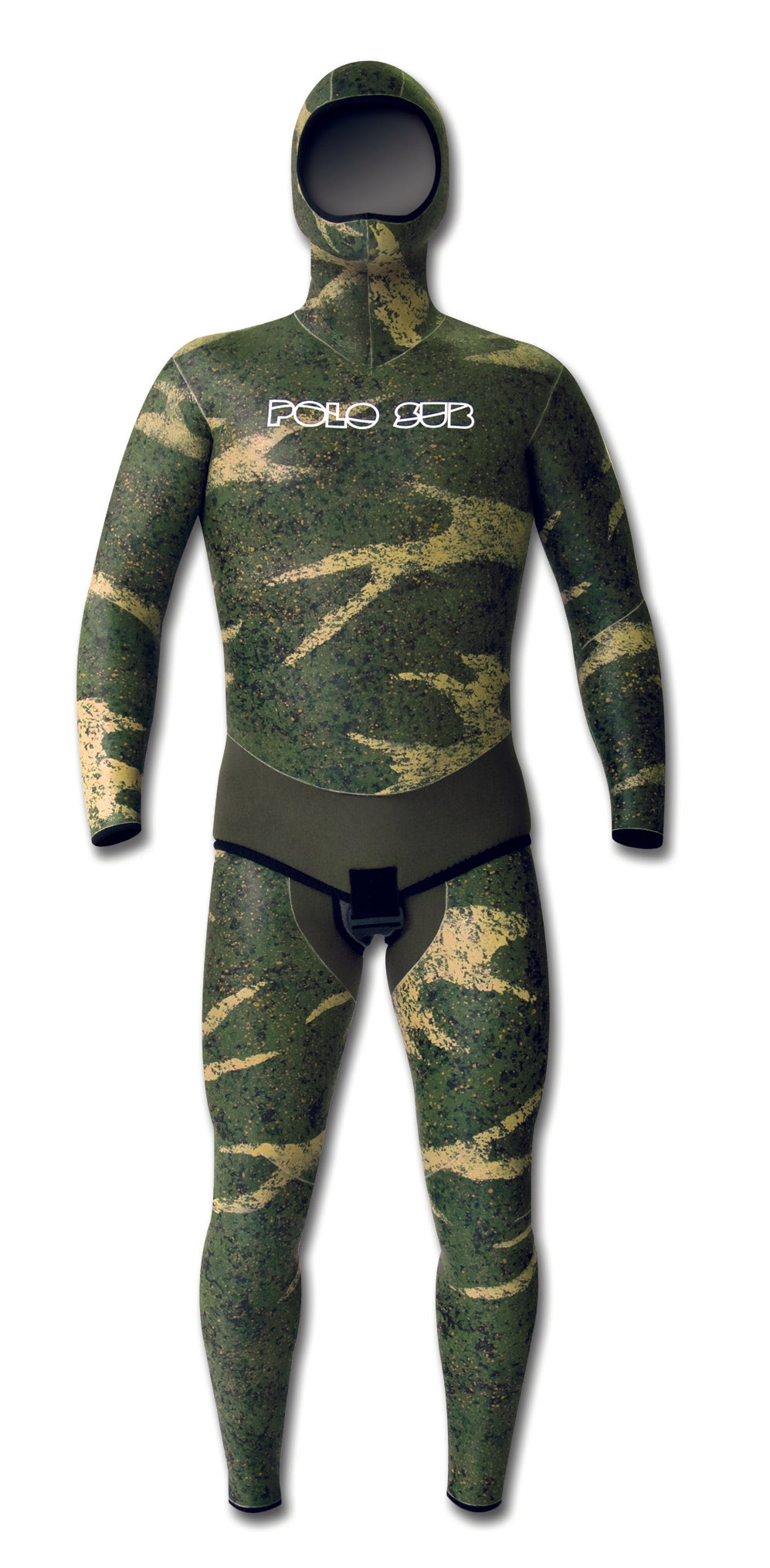 Гидрокостюм Polosub Smoothskin Camo Decomposed зеленый