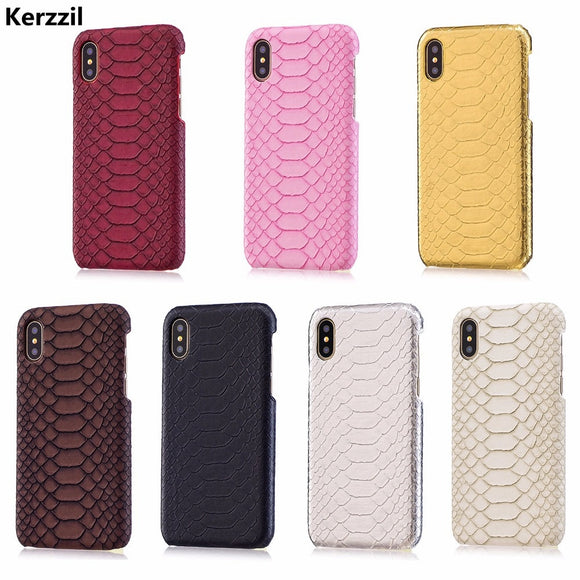 Gyphca Vintage Snake Skin Phone Case For Iphone 6 7 8 Plus Matte Soft Tpu Rubber Case For Iphone X Xs Xs Max Xr Back Cover Cover Phone Bags & Cases