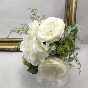 Blooming Essentials Ltd Artificial Mia Pearl Rose Bouquet Ivory