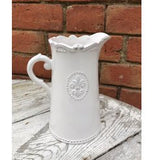 Blooming Essentials Ltd Artificial Ceramic Fleur De Lis Jug