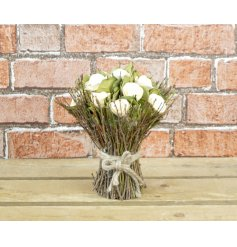 Blooming Essentials Ltd Artificial Wooden Floral Bouquet
