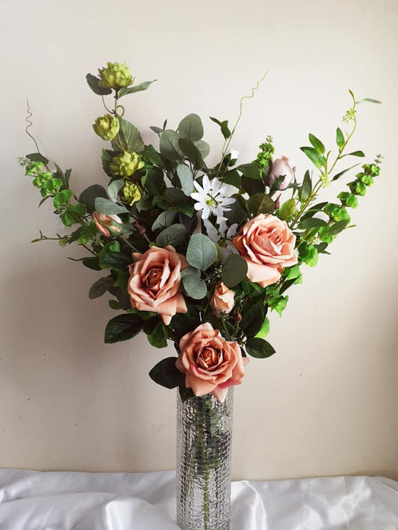 Blooming Essentials Ltd Artificial Vintage Rose Flower Arrangement