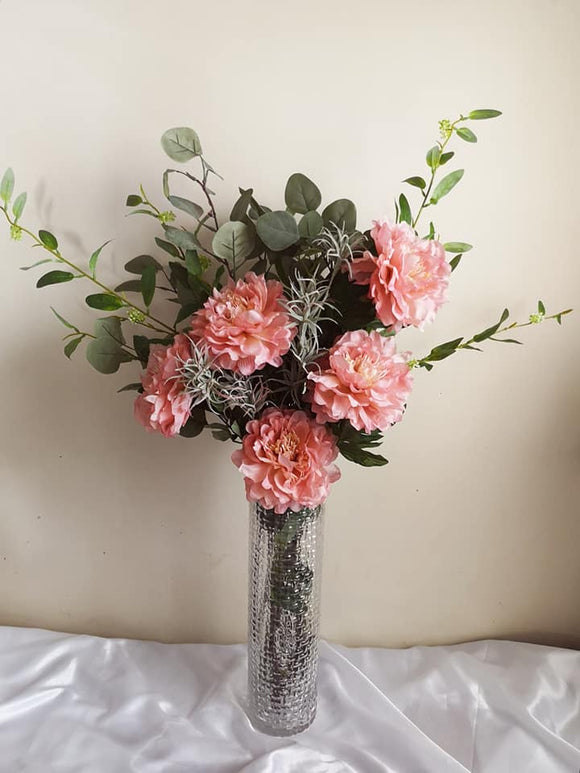 Blooming Essentials Ltd Artificial Mia Pink Peony Flower Arrangement