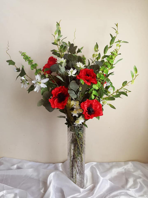 Blooming Essentials Ltd Artificial Poppy Flower Arrangement