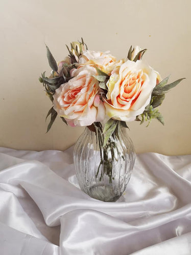 Blooming Essentials Ltd Artificial Pastel Pink Rose Flower arrangement