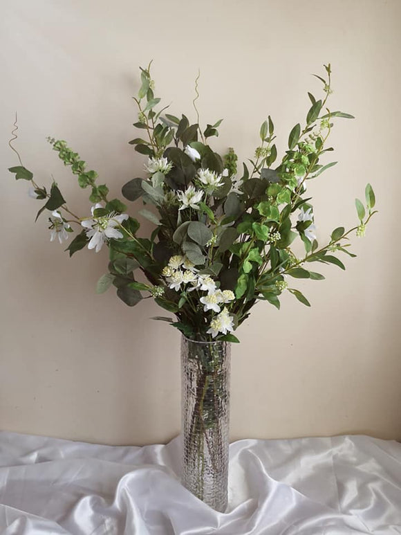 Blooming Essentials Ltd Artificial Mixed Foliage Flower Arrangement