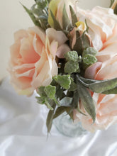 Load image into Gallery viewer, Blooming Essentials Ltd Artificial Pastel Pink Rose Flower arrangement