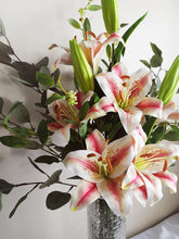 Load image into Gallery viewer, Blooming Essentials Ltd Artificial Pink King Lily Flower Arrangement