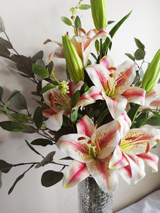 Blooming Essentials Ltd Artificial Pink King Lily Flower Arrangement
