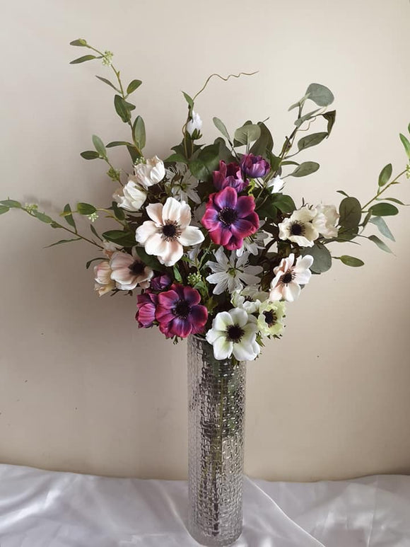 Blooming Essentials Ltd Artificial Anemone Flower Arrangement