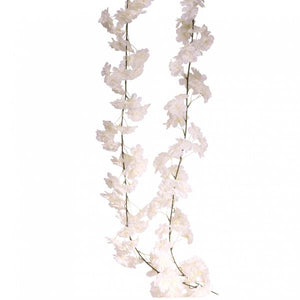 Blooming Essentials Ltd Artificial Blossom Garland White 2.1m
