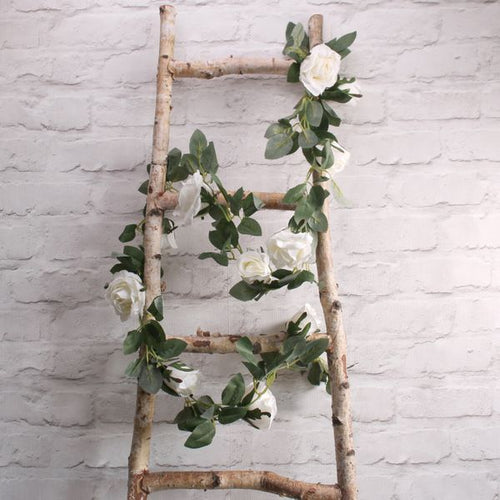 Blooming Essentials Ltd Artificial Light Cream Rose Garland