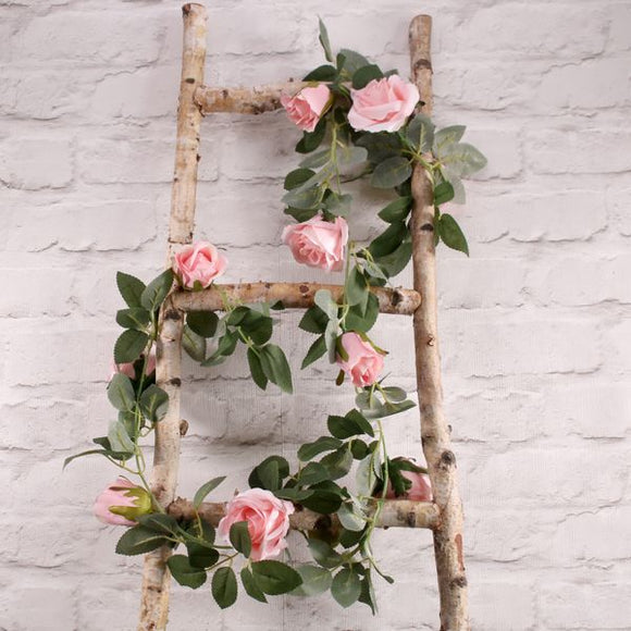 Blooming Essentials Ltd Artificial Pink Rose Garland