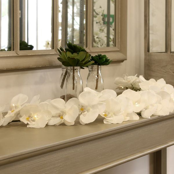 Blooming Essentials Ltd Artificial White Orchid Garland