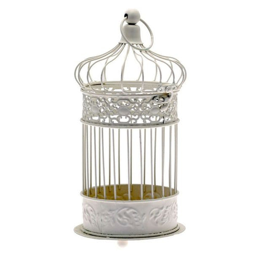 Blooming Essentials Ltd Artificial Cream Antique Style Bird Cage