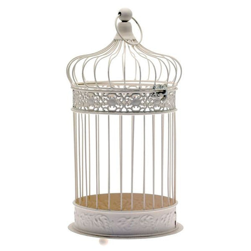 Blooming Essentials Ltd Artificial Large Cream Bird Cage