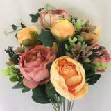 Blooming Essentials Ltd Artificial Pretty in Peony Vase Display
