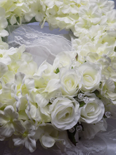 Load image into Gallery viewer, Blooming Essentials Ltd Artificial Hydrangea & Rose Wreath