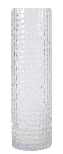 Blooming Essentials Ltd Artificial Strippled Cylinder Vase