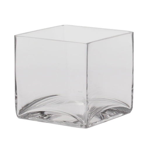 Blooming Essentials Ltd Artificial Glass Cube Vase