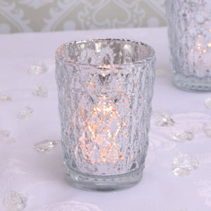 Blooming Essentials Ltd Artificial Silver Crystal Effect Votive